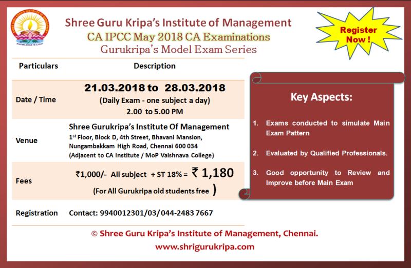 shree guru kripa    gurukripa u0026 39 s ca ipcc model exams for